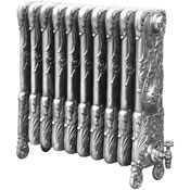 Chelsea cast iron radiator in hand burnished finish