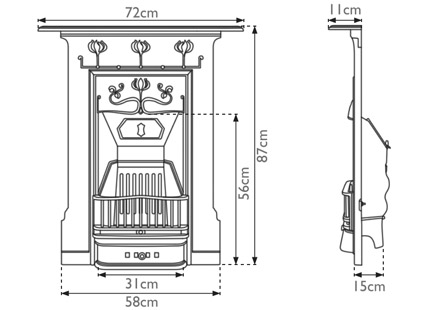 Abbot cast iron combination measurements