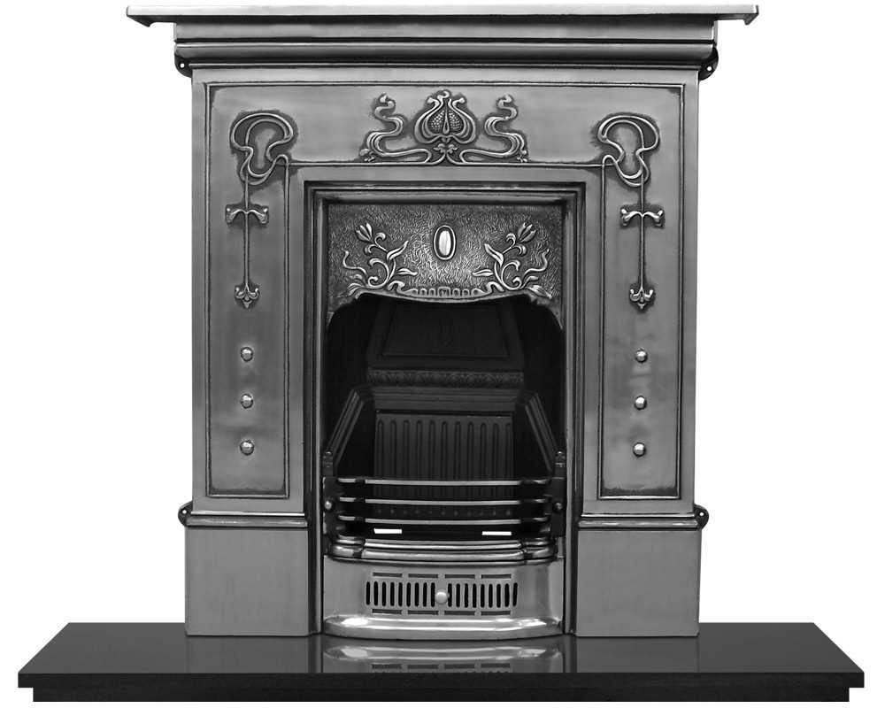 Bella combination fireplace in full polish