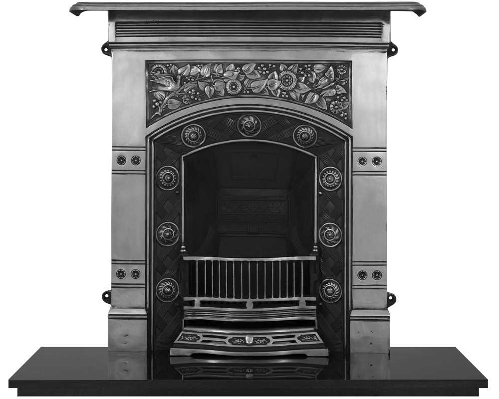 Jekyll cast iron combination fireplace in full polish