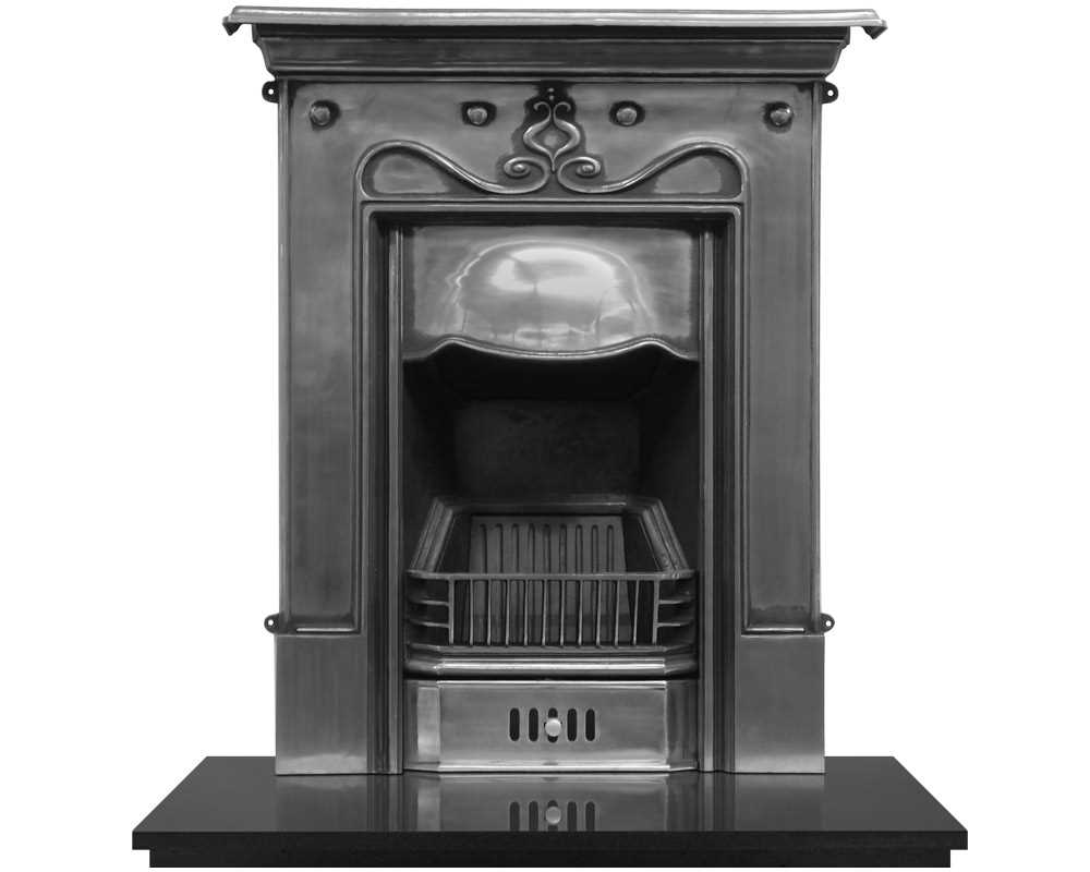 Tulip cast iron fireplace in full polish