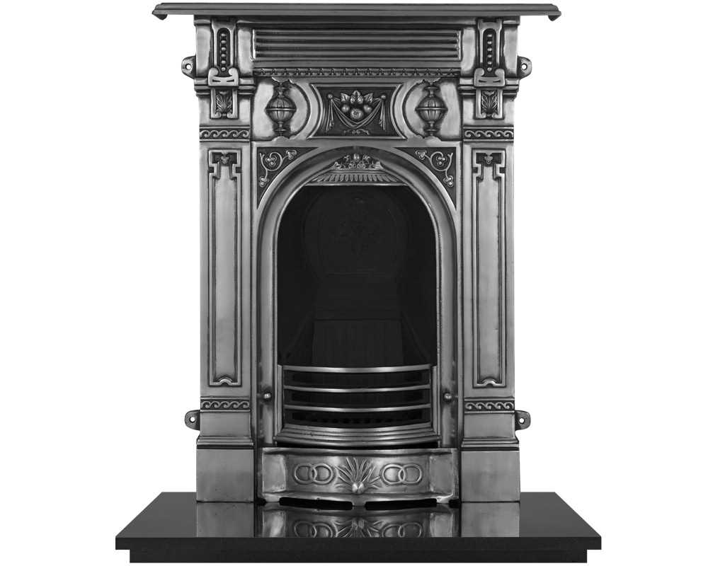 combination fireplace in full polish