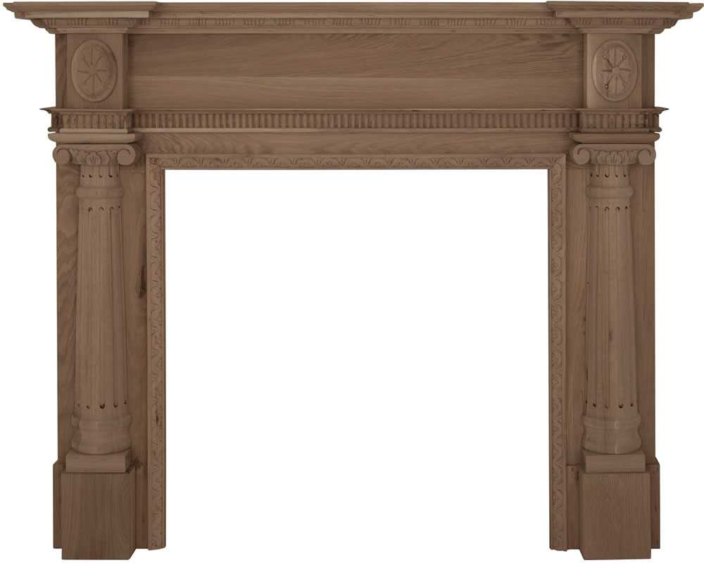 Ashleigh unfinished solid oak fireplace surround