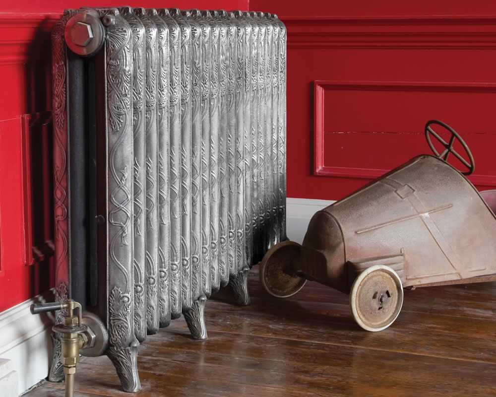 Ribbon 2 column cast iron radiator installed in period house