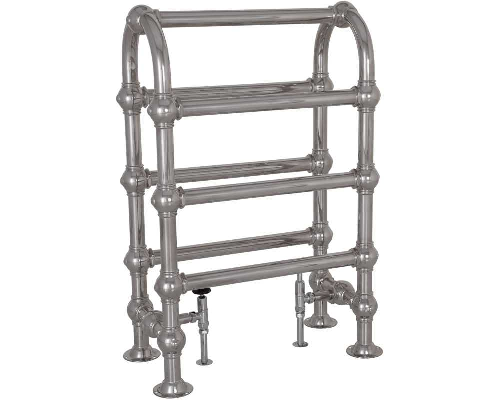colossus steel towel rail in chrome finish