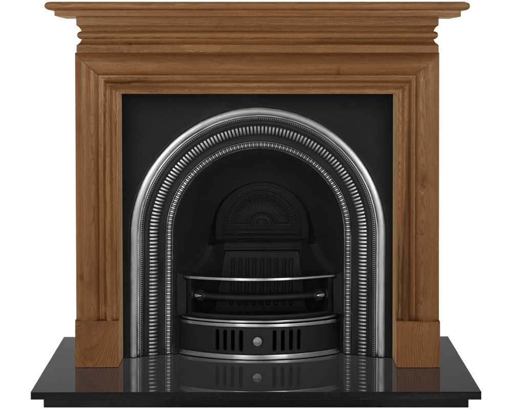 Collingham cast iron fireplace insert shown in highlight polish