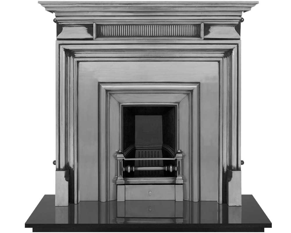 Royal fireplace insert with narrow opening in full polish