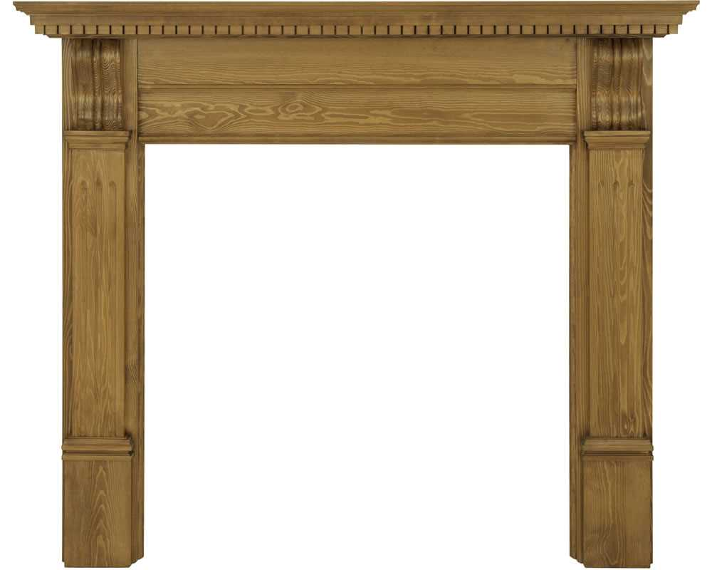 Corbel waxed solid pine fireplace surround