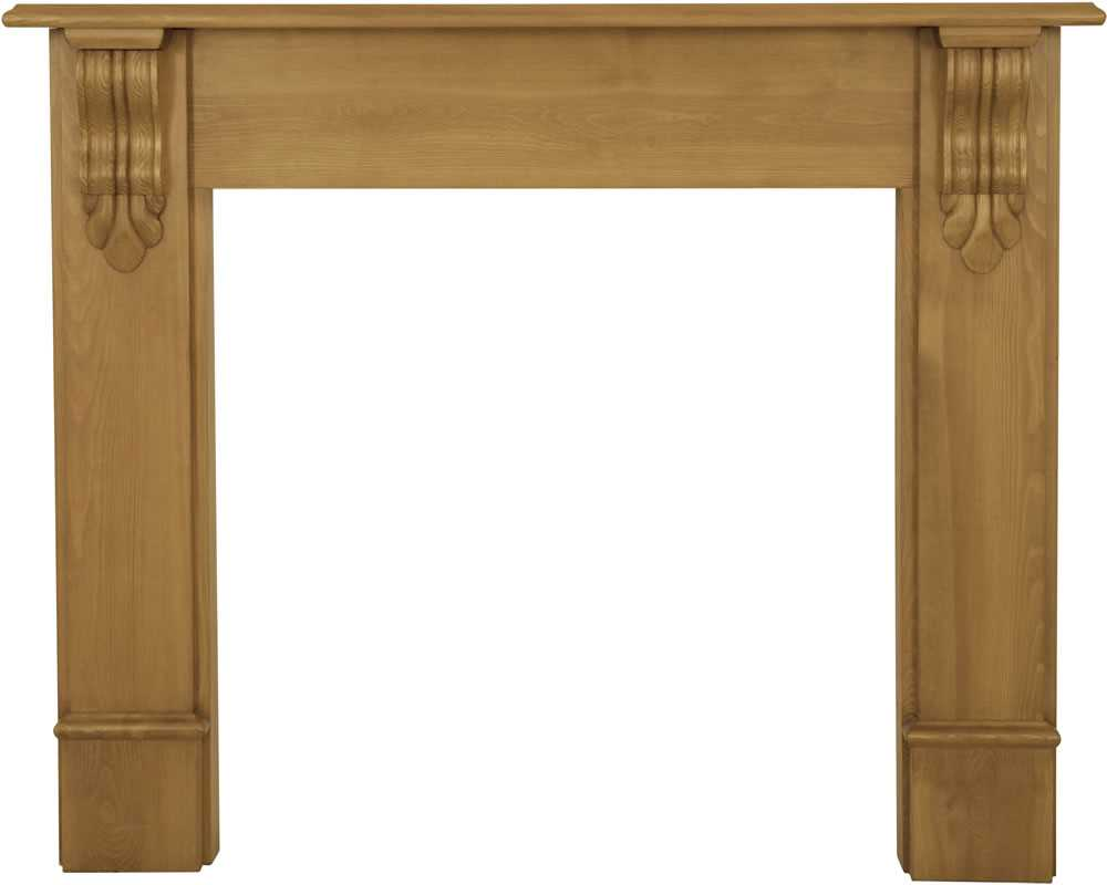 Edinburgh corbel waxed solid pine fireplace surround