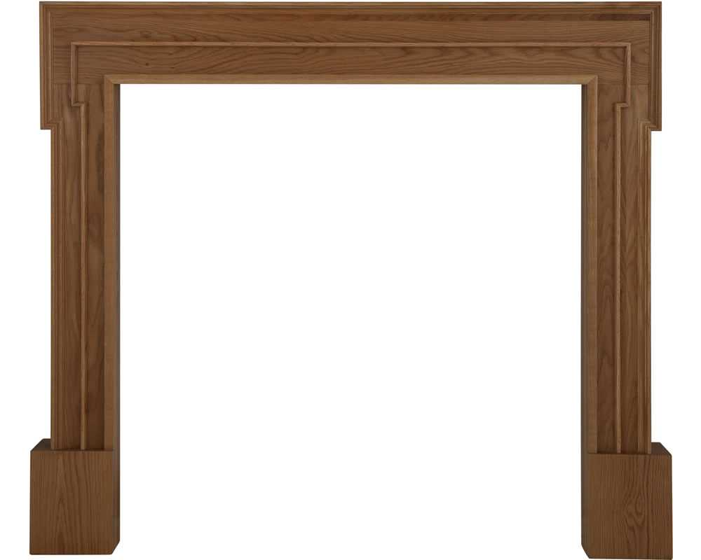 Palladio waxed solid oak fireplace surround