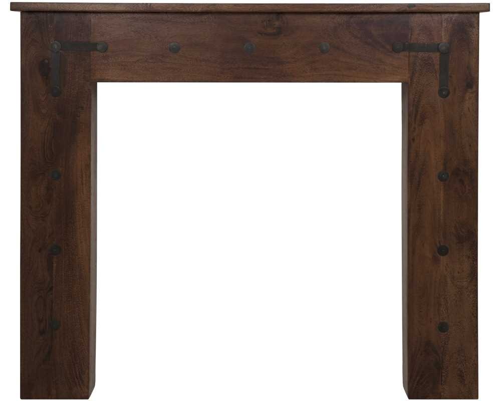 Thakat chestnut solid acacia fireplace surround