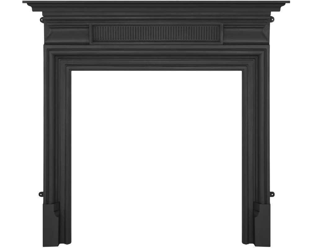 Belgrave cast iron fireplace surround in black finish