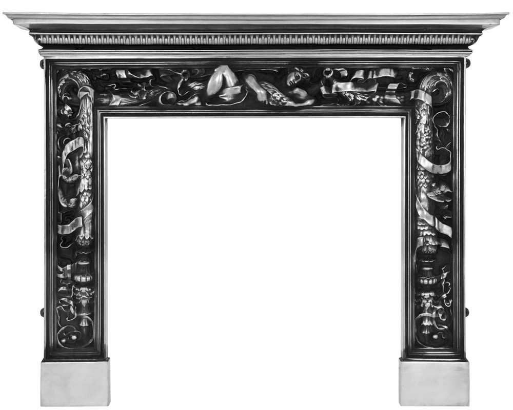 Mayfair cast iron fireplace surround in full polish