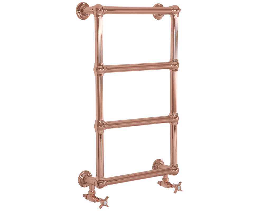 Bassingham steel towel rail copper