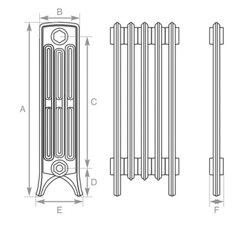 Crane cast iron radiator measurements