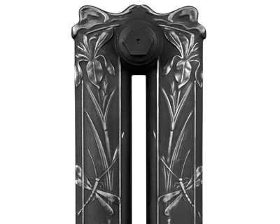 Dragonfly cast iron radiator highlight polish