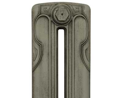 Liberty 2 column cast iron radiator section with antiqued french grey finish