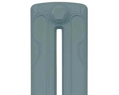 Liberty 2 column cast iron radiator section in oval room blue