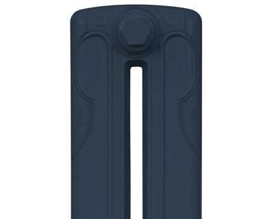 Liberty 2 column cast iron radiator section in stiffkey blue
