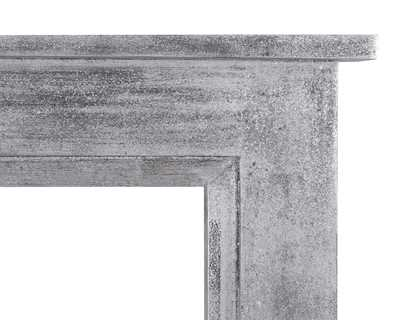 Colorado wooden fire surround in silver leaf aged black finish