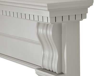 Corbel wooden fire surround painted