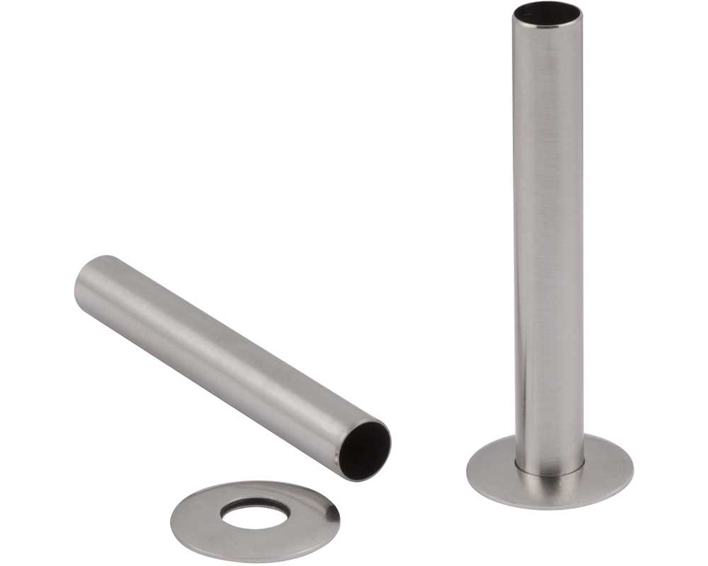 satin nickel radiator pipe shroud/sleeves
