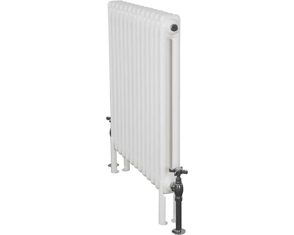 Enderby 2 column 13 section 710mm steel radiator in all white