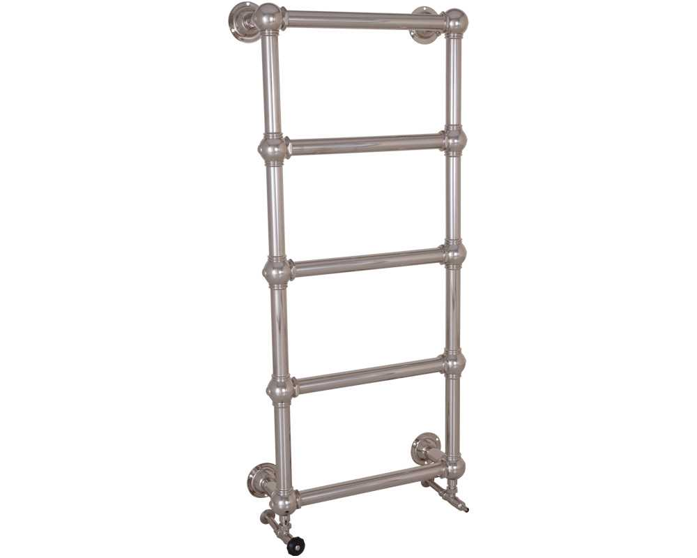 colossus steel towel rail in nickel finish