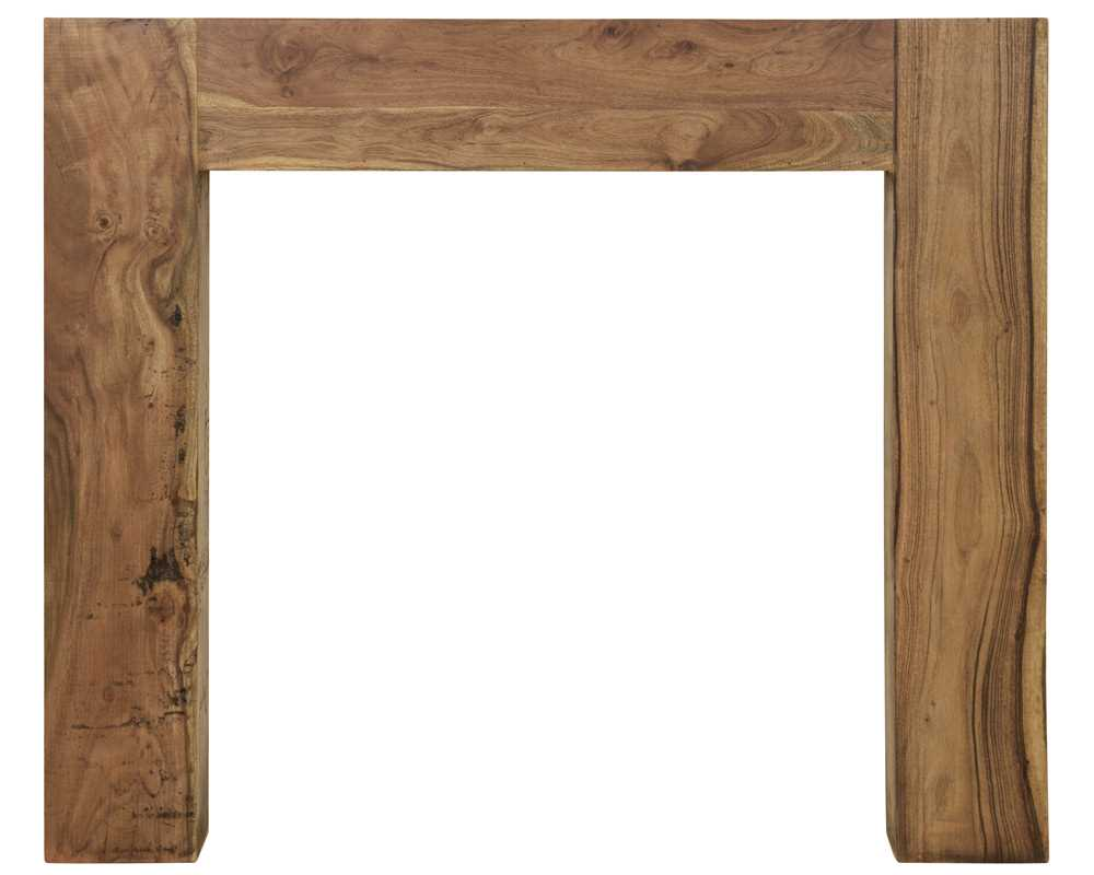 Manhattan natural solid acacia fireplace surround