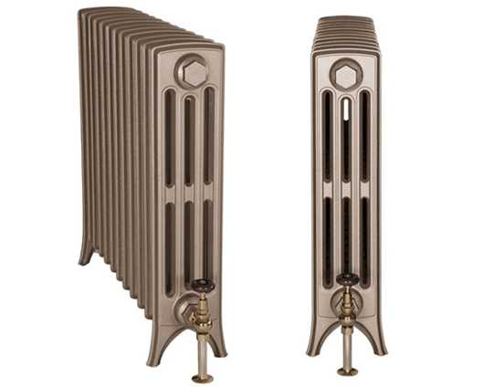 Rathmell cast iron radiators painted in Roberson Renaissance Gold